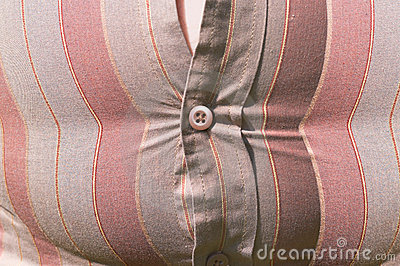 Tight shirt button overweight belly