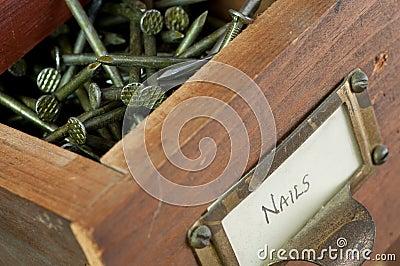 Tight Shot of Box of Nails