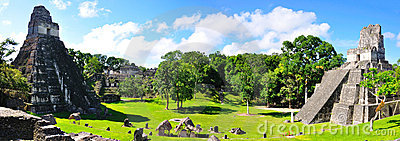 Tikal古老危地马拉玛雅人的寺庙