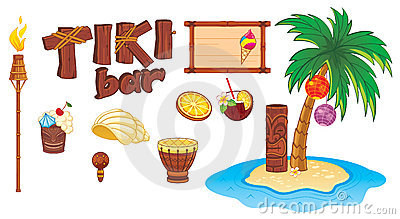 Tiki art objects