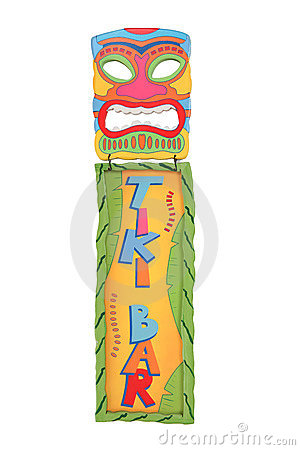 Free Tiki Bar Mask And Sign Stock Photos - 11576843