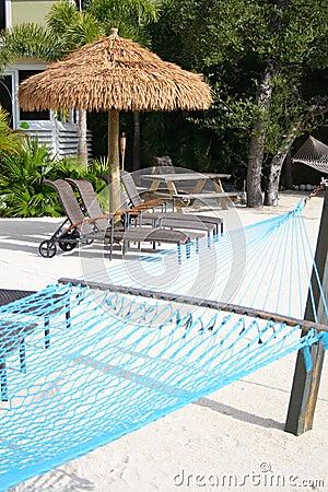 Tiki Hut and hammock