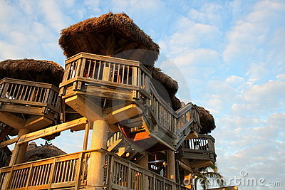 Tiki Hut towers
