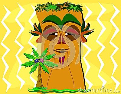 Tiki and Palm Tree