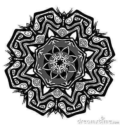 Tiki Seed Vector Glyph Symbol