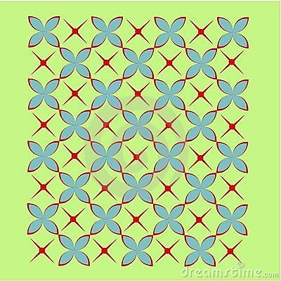 Tile background in red, blue and green