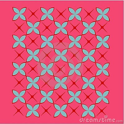 Tile background in red, blue and pink