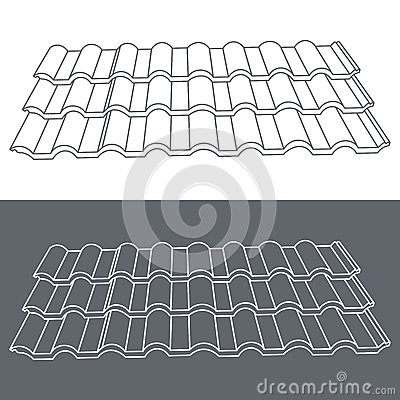 Free Tile Element Of Roof. Eps10 Vector Illustration. Royalty Free Stock Photo - 48771525