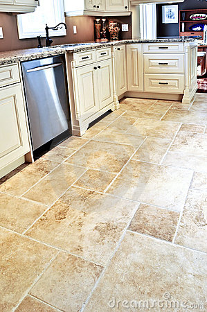 Free Tile Floor In Modern Kitchen Royalty Free Stock Image - 7200676