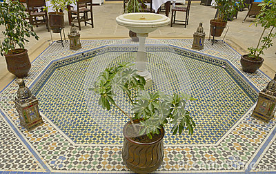 Tile fountain in Patio