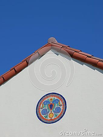 Free Tile Mosaic Below Red Roof Royalty Free Stock Image - 6318676