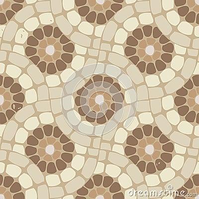 Vector Tile Mosaic Floor Stone Background Stock Vector