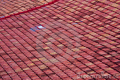 Tile roof, Santa Clara, Cuba