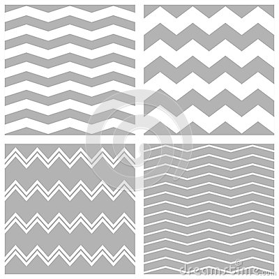 Free Tile Vector Chevron Pattern Set With White And Grey Zig Zag Background Stock Images - 62144504