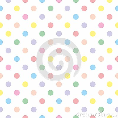 Free Tile Vector Pattern With Pastel Polka Dots On White Background Royalty Free Stock Photos - 57627838