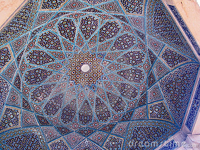 Tile work, Hafez tomb, Iran