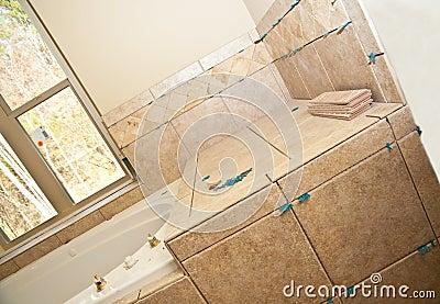 Tile Work in New Bath
