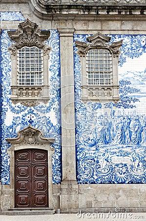 Tile work in Porto, Portugal