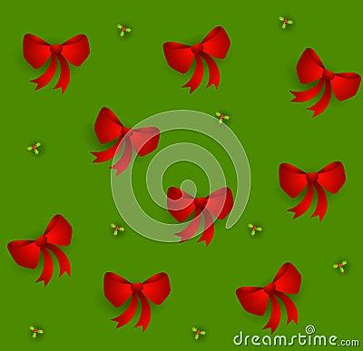 κόκκινα tileable Χριστούγεννα τόξ&