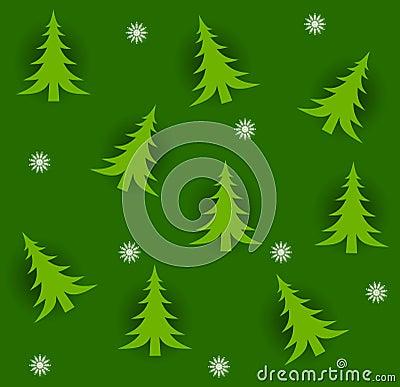 Tileable Bożych Narodzeń drzewa