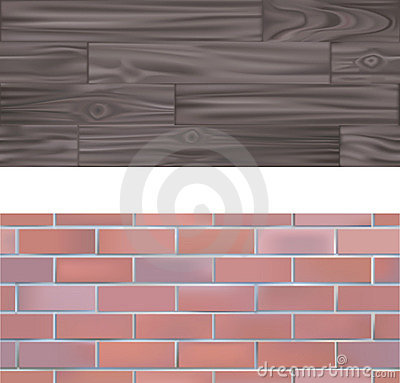 Free Tileable Brick And Wood Textur Stock Image - 2839341
