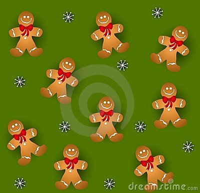 Tileable Gingerbread Men