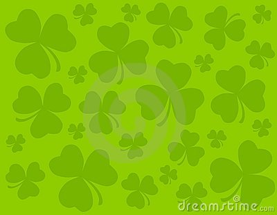 Tileable Green Clover Leaves Background