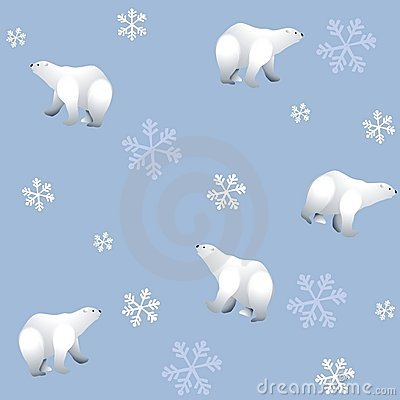 Tileable Polar Bears Background