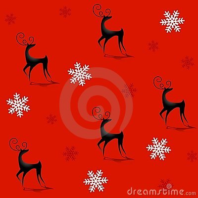 Tileable Reindeer Background 2