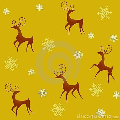 Tileable Reindeer Background