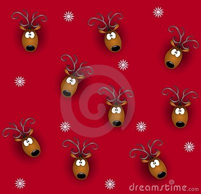 Tileable Reindeer Heads