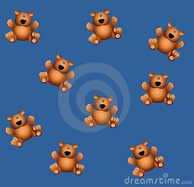Tileable Teddy Bears Blue