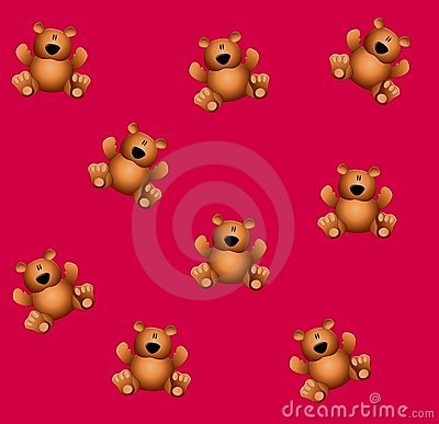 Tileable Teddy Bears Pink