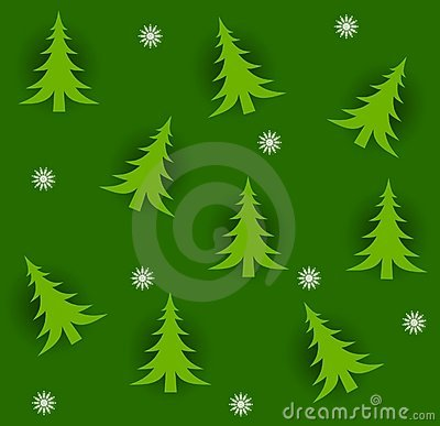 Tileable trees för jul
