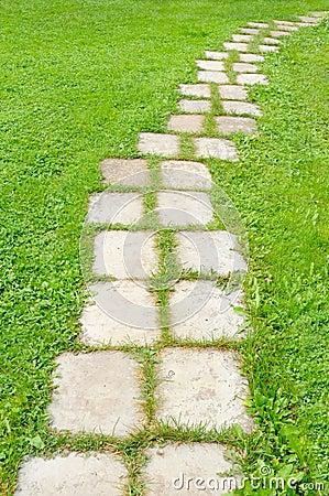 Tiled Garden Path