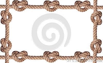 Tiled knot rope frame