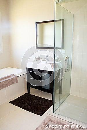 Tiled Modern Bathroom Interior