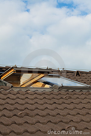 Tiled roof and dormer windows