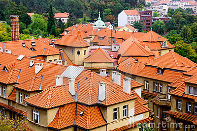Tiled Roofs in Prague