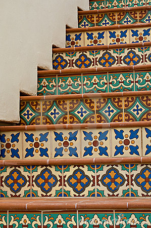 Free Tiled Staircase Royalty Free Stock Images - 22651299