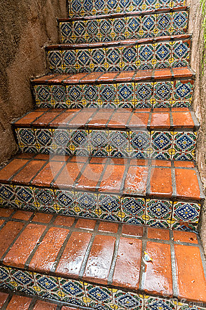 Free Tiled Stairway, Tlaquepaque In Sedona, Arizona Royalty Free Stock Photography - 69988037