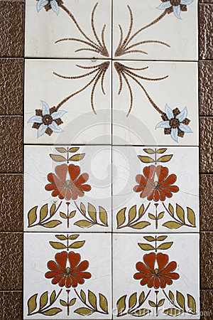 Tiles with floral