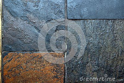 Tiles of grungy stone