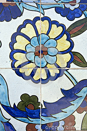 Tiles, Konak Mosque, Izmir, Turkey