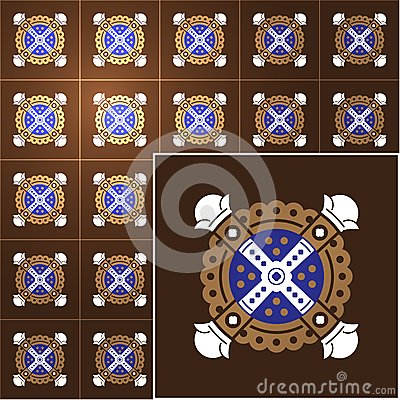 Tiles vector background