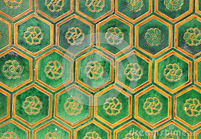 Tiles of the walls of the forbidden city