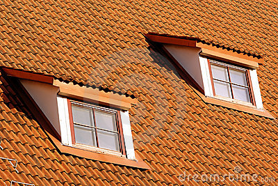 Tiling roof with windows