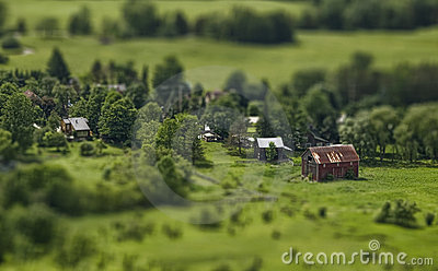 Tilt-shift barn