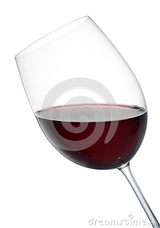 Free Tilted Elegant Glass Of Red Wine Stock Images - 38096254