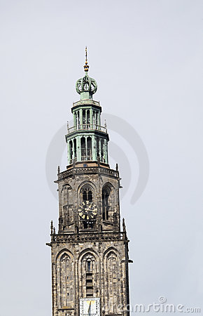 Tilted Martinitower in Groningen